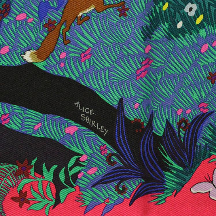 """爱马仕/hermes """"森林&动物""""图案女士丝质丝巾 pr000180图片"""
