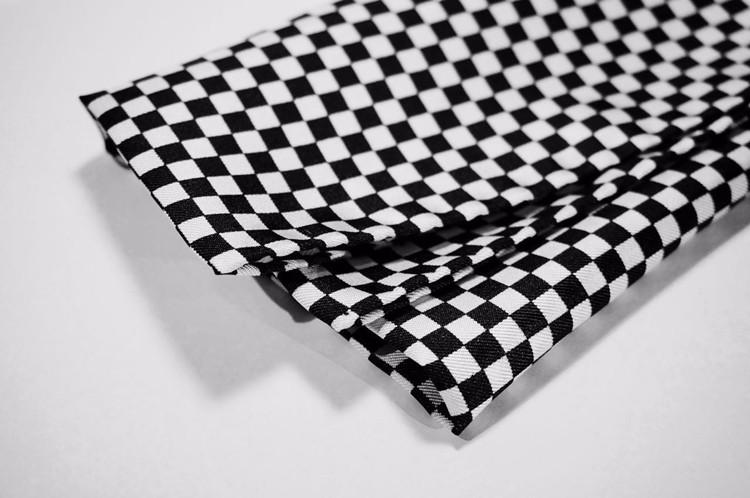 摩根汽车精品 赛车旗黑白格口袋方巾