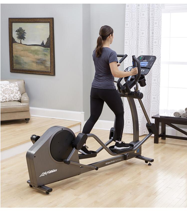 美国life fitness力健椭圆机 家用静音磁控全身运动进口健身器材e3