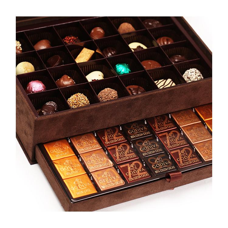 歌帝梵巧克力优选礼盒(咖啡色包装)(59颗装)