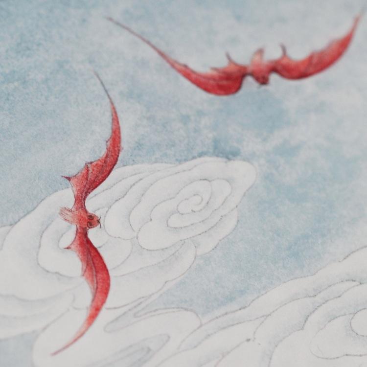 lijing/李晶 手绘洪福齐天团扇