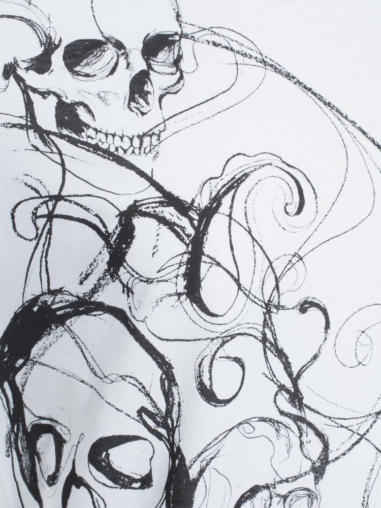 手绘霸气骷髅简易图案