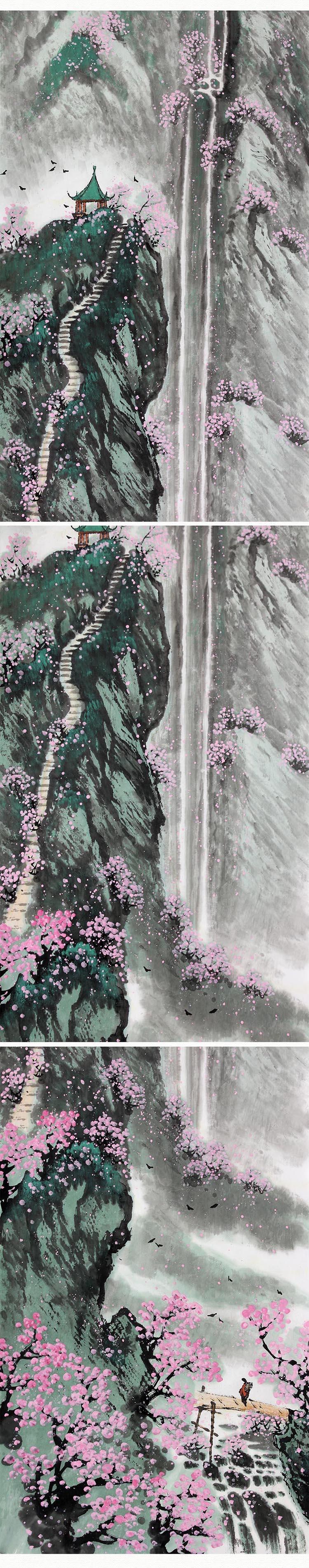 韩小平 《春夏秋冬》传统水墨 写意山水