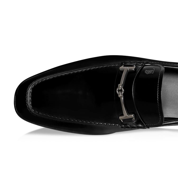 男士黑色真皮乐福鞋