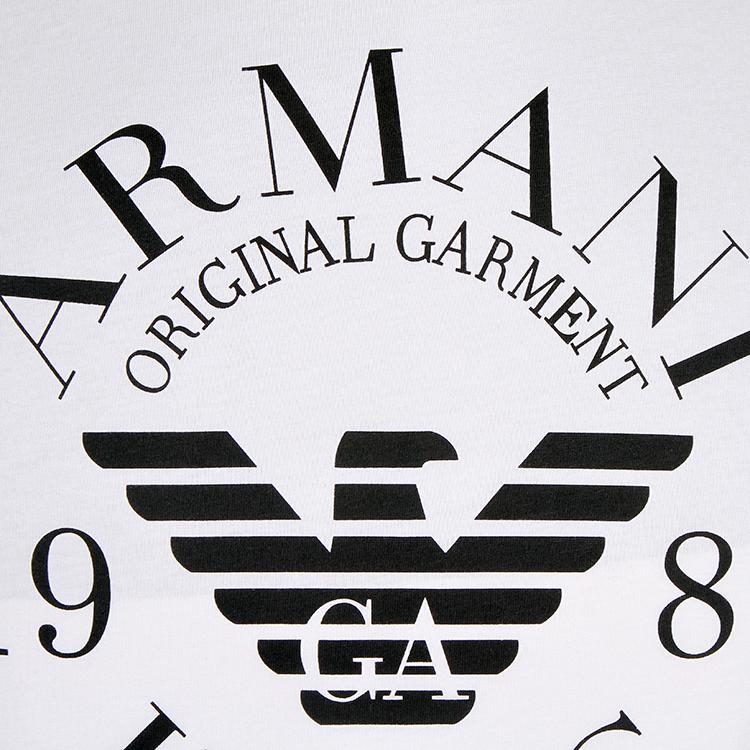 armani jeans/阿玛尼牛仔 2016新款纯棉字母logo印花圆领短袖t恤 06h9
