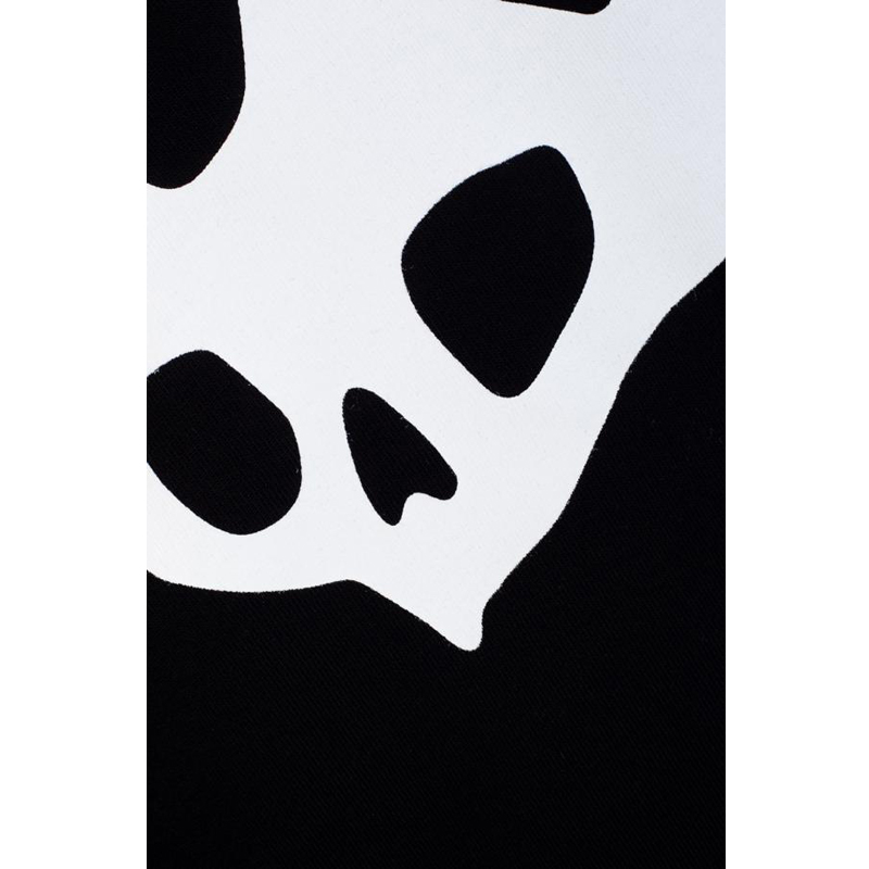 alexander mcqueen/亚历山大麦昆 男士新品鬼才设计燕子骷髅印花棉质