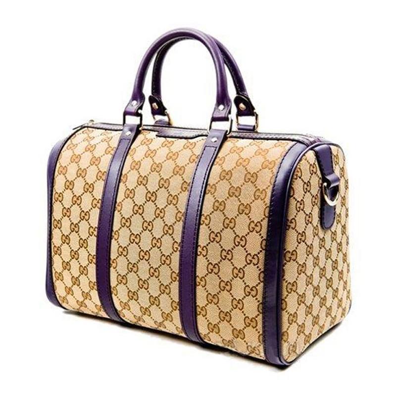 gucci/古驰 女士拼茄圆筒手提包 &247205 f4cmg 9764
