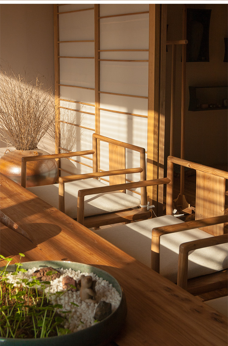 素木|素椅禅四式|新中式简约实木家具茶室会所客厅茶座椅小禅椅