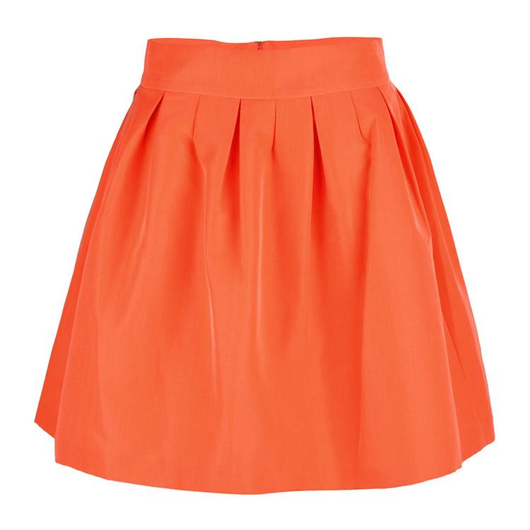 etxart&panno/etxart&panno西班牙轻奢品牌橙色棉质a字裙女士半裙