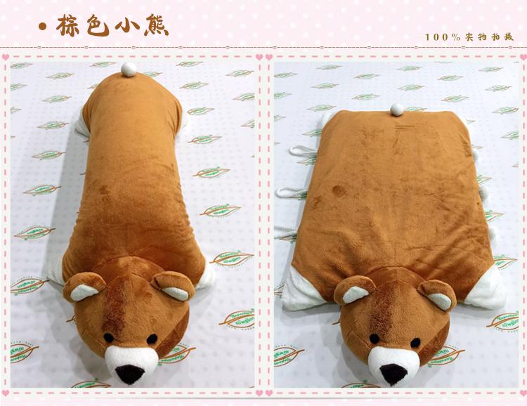 天然乳胶枕头卡通动物枕儿童小孩抱枕可爱玩偶枕头