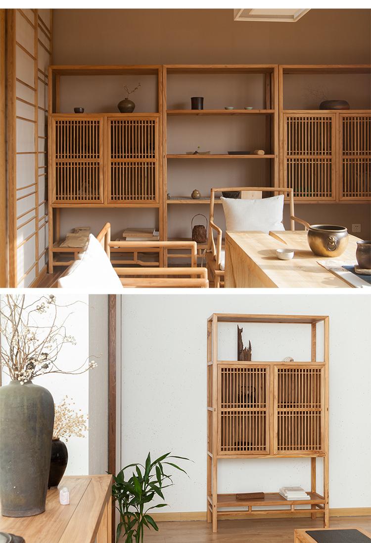 【素木|素柜·明一式】素木中式实木榫卯家具茶室客厅书房储物柜茶柜