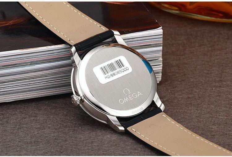 OMEGA/欧米茄瑞士手表 碟飞系列自动机械男表 黑盘黑皮带 424.13.40.20.01.001