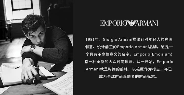 Emporio Armani/安普里奥阿玛尼 【阿玛尼爆款】阿玛尼手表男士Watch复古透底针扣皮带机械腕表 AR1981