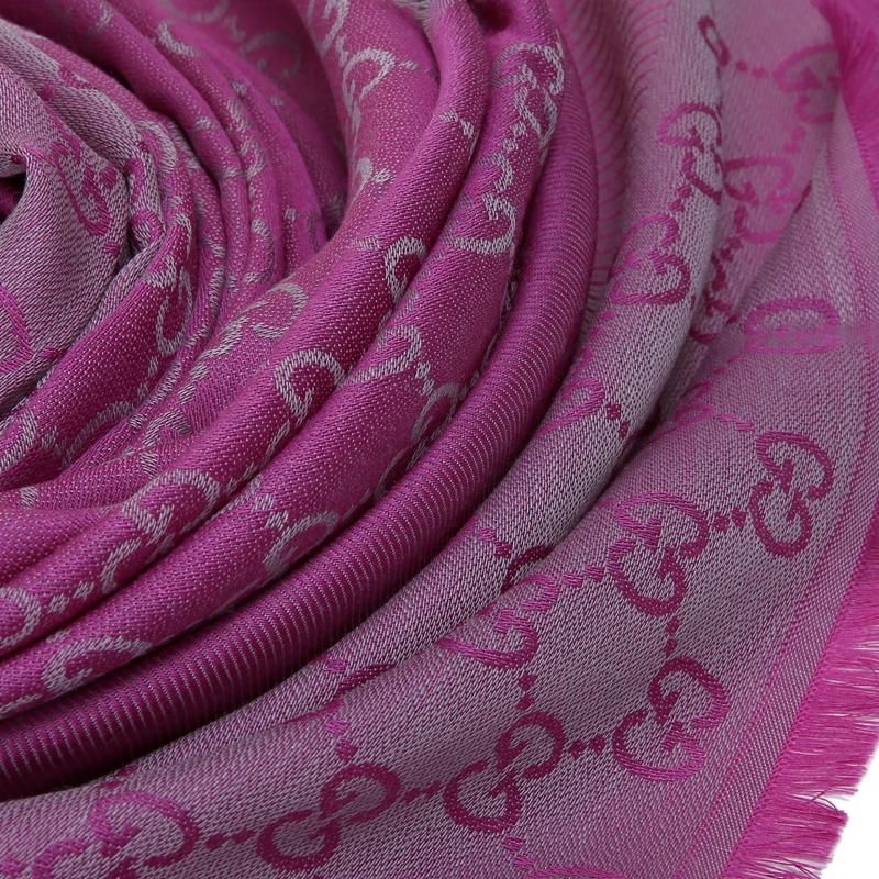 (预售)GUCCI/古驰围巾  女士男士通用中性经典双G标志羊毛围巾 281942 3G704