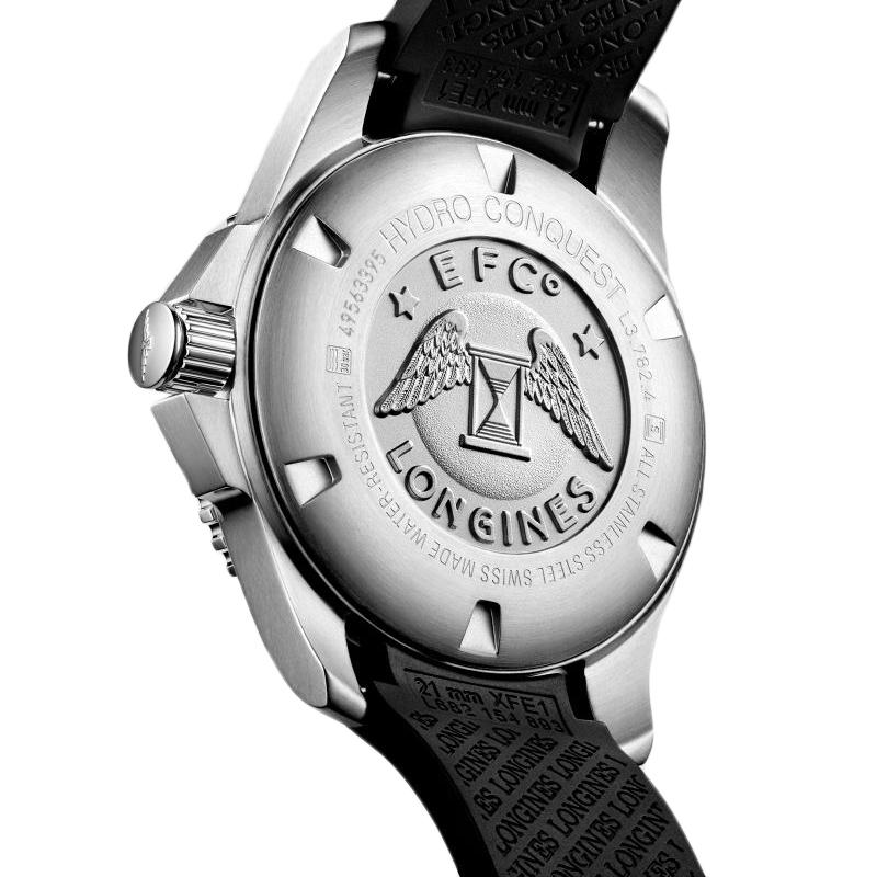 【包税】预定款2-3周发货 LONGINES/浪琴  康卡斯潜水系列黑色自动机械男士腕表43毫米 L3.782.4.56.9