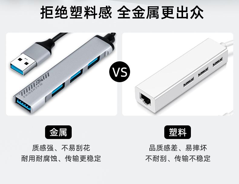 机械师Typec扩展坞 笔记本拓展USBHUB转接多接口适用iPad苹果电脑转换器【新品】